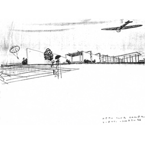 Luigi Vietti Schizzo per l'Aero Club Cameri [FAMagazine]