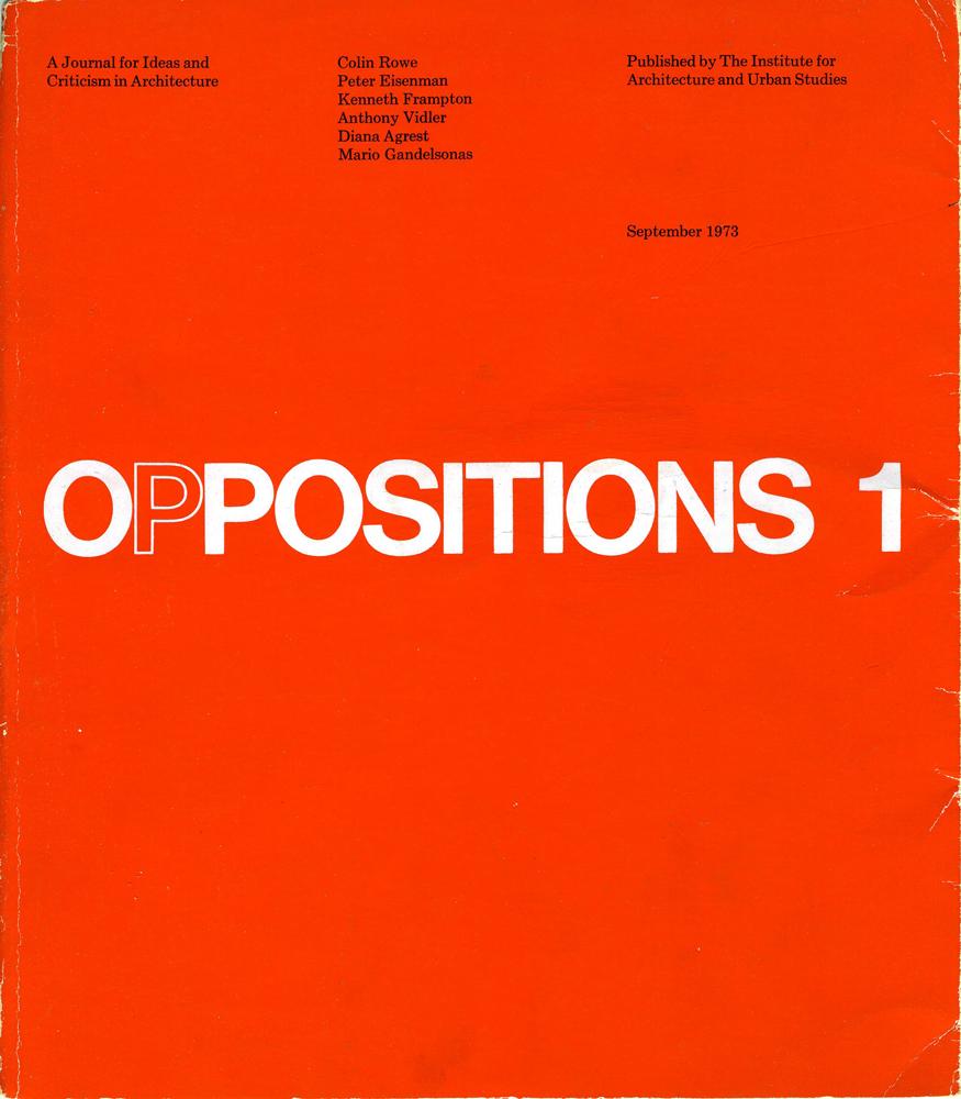 Oppositions 1973 1984   Zuliani   FAMagazine. Ricerche e